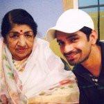 Vishal Singh with Lata Mangeshkar
