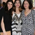 Alexandra with her sister and mother