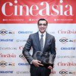 Ajay Bijli winning the CineAsia Award