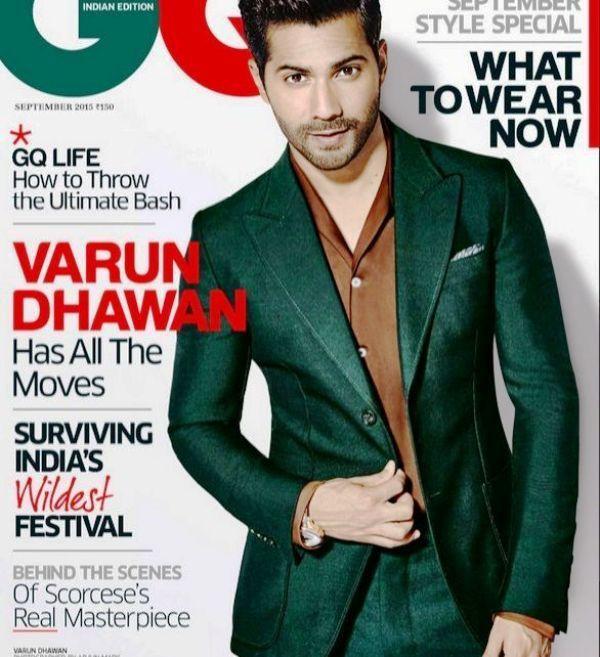 Varun Dhawan on the Cover of GQ Magazine