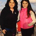 Aditi Bhatia with her mother Bina Bhatia