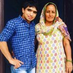 Parveen Rana with his mother