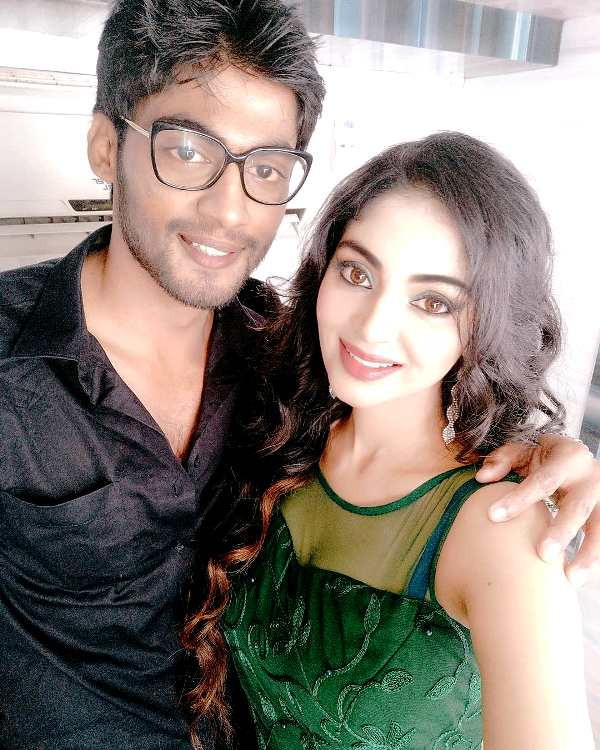 Tharshan Thiyagarajah with his girlfriend Sanam Shetty