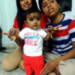 Radhika Reddy with her children