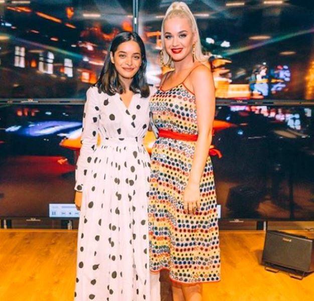 Lisa Mishra with Katy Perry