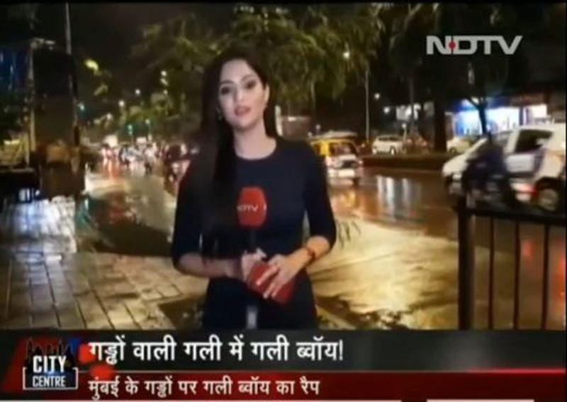 Puja Bharadwaj Reporting for NDTV India