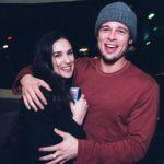 Demi Moore with Brad Pitt