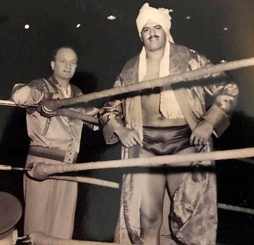 Dara Singh at one of his wrestling tournaments