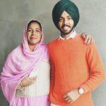 Satbir Aujla with his mother