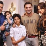 Sohail Khan With His Brother, Sons, And Wife