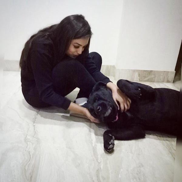 Samiksha Jaiswal with her pet