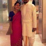 Tillotama Shome with her husband