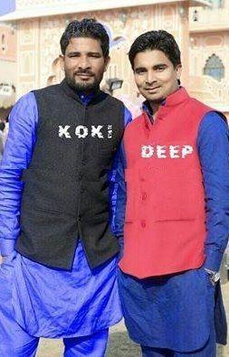 Deep Arraicha with his friend Koki