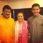 Aditya Narayan with his Parents