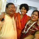 Charu Nigam with her parents