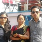 Shrestha Thakur with her Mother and Brother