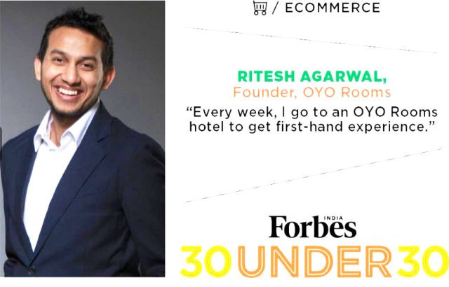 Ritesh Agarwal on Forbes List