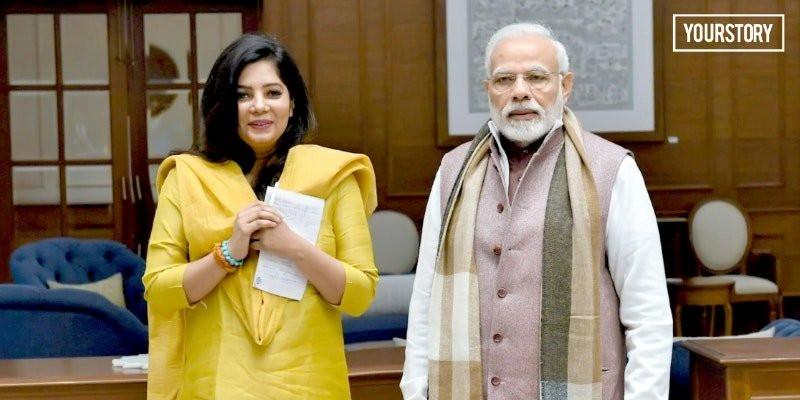 Shradha Sharma With Narendra Modi