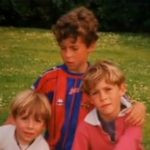 Eden Hazard with his younger brothers