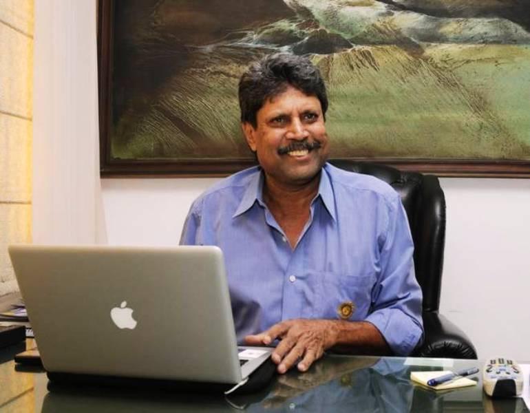 Kapil Dev In His Office