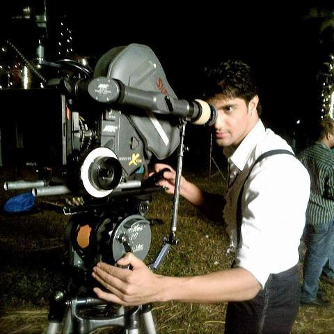 Tanuj Virwani while shooting for a film