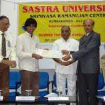 Akshay Venkatesh With SASTRA Ramanujan Prize