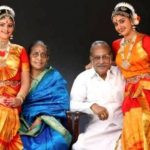 Tanya Ravichandran with her maternal grandparents and sister Apparajitha Sriram