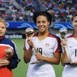 Alex Morgan With FIFA U-20 Women World Cup Silver Ball in 2008