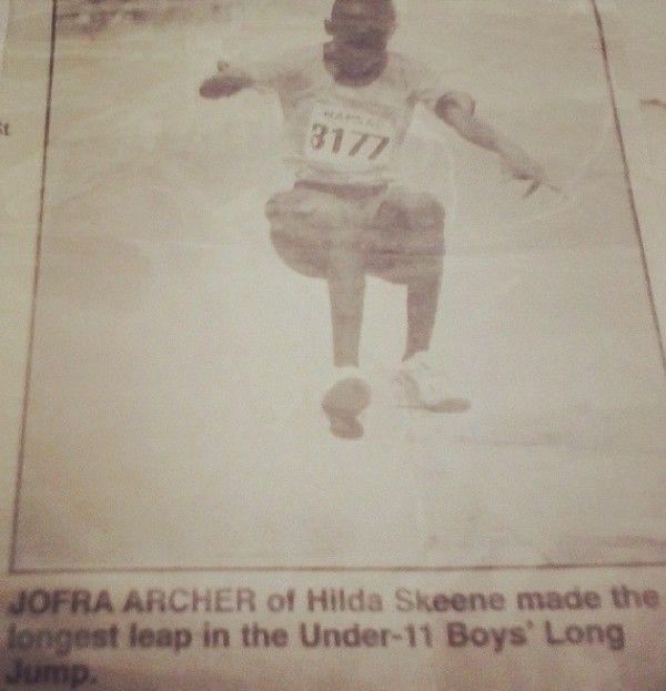 Jofra Archer Long Jump