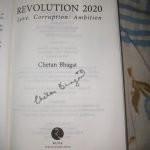 Chetan Bhagat signature