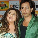 Delnaaz Irani with her Ex-husband Rajeev Paul