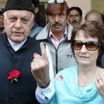 Farooq Abdullah with his wife Molly