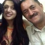 Charlie Chauhan with her father