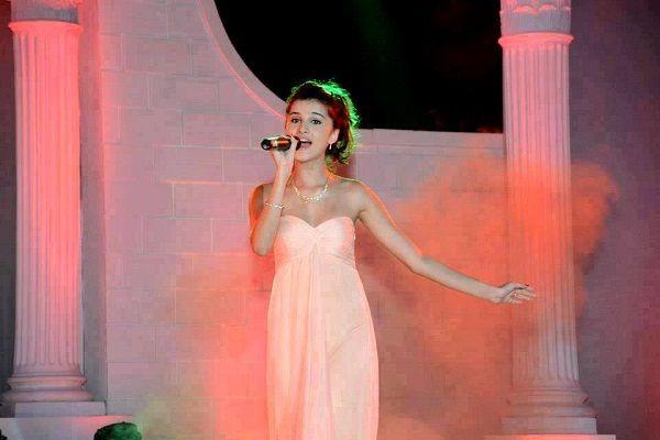 Tara Sutaria during a live concert