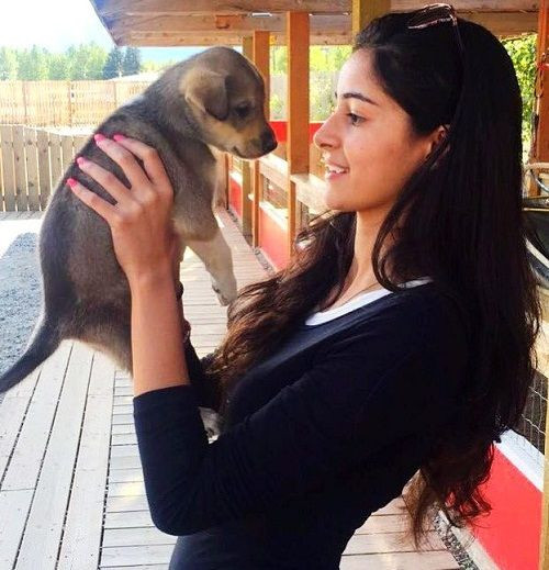 Ananya Panday loves dogs
