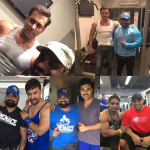 Rakesh Udiyar with celebrities during their training sessions
