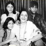 Nargis with her children