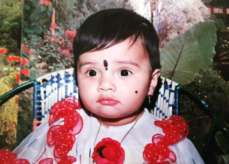 Sreemukhi Childhood Photo