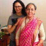 Chhavi Rajawat with her mother