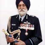 Arjan Singh Holding His Ceremonial Baton, A Stick Traditionally The Sign Of A Field Marshal or A Similar Very High-Ranking Military Officer, Carried As A Piece Uniform