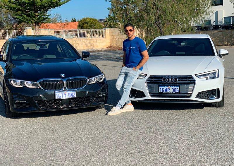 Yusof Mutahar Posing with His Cars