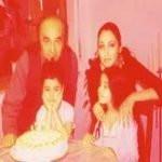 Seeta Qasemi with her former husband and children