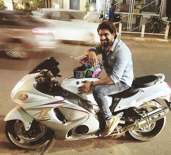 Arun Vijay Posing on His Hayabusa Bike