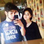 Zaira Wasim with her brother