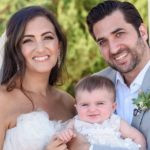 Jennifer Hyman With Her Husband And Daughter On Their Wedding Day