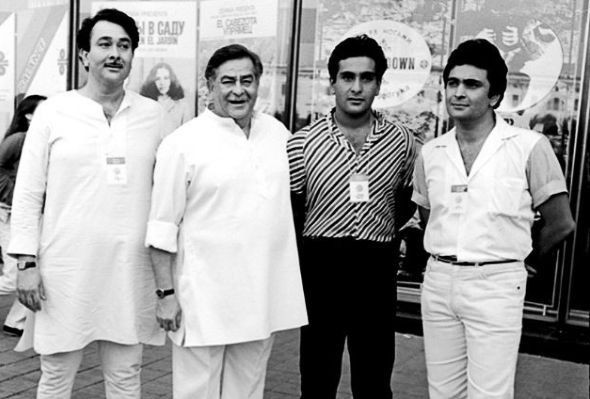 Raj Kapoor With His Sons
