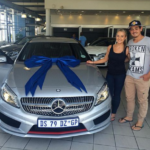 Sasha Hurly with her gifted car