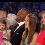 Triple H with his 3 daughters