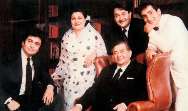 Raj KapoorWith His Family