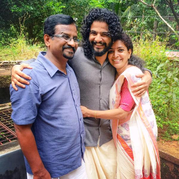 Neeraj Madhav with His Parents